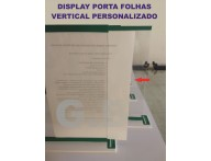 DISPLAY ACRÍLICO T PORTA FOLHAS VERTICAL- DISPLAY VERTICAL PERSONALIZADO