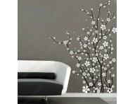 Adesivo decorativo Galhos secos com flores