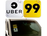 Placa Indicativas Uber 99 Motorista De Aplicativos Carro
