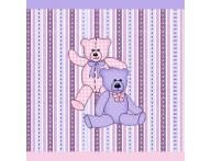 Faixa decorativa infantil Ursinhos Lilás e Rosa