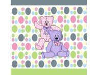 Faixa Decorativa infantil Urso com Bolinhas