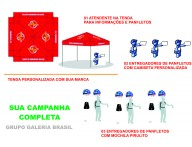 CAMPANHA DE MARKETING E Street Marketing COMBO COMPLETO COM TENDA PERSONALIZADA ENTREGA DE PANFLETOS E MARKETING DIRETO