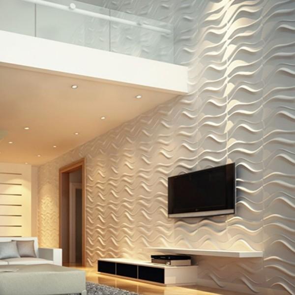 Revestimento decortivo de parede em 3d modelo dunas - Placas para paredes interiores ...