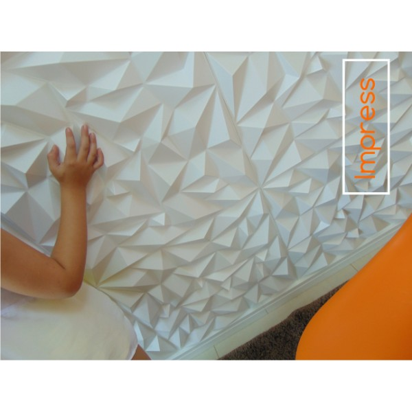 Revestimento decortivo de parede em 3d modelo impress - Placas decorativas para pared interior ...