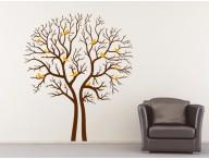 Adesivo árvore seca com passarinhos