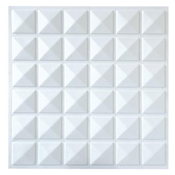 Revestimento 3d parede ou forro placa decorativa ref 010 for Placas pvc para paredes