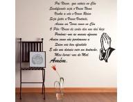 Adesivo decorativo Oração Pai Nosso