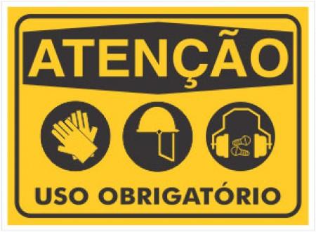 PLACA DE SINALIZAÇÃO USO OBRIGATÓRIO