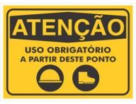 PLACA DE SINALIZAÇÃO USO OBRIGATÓRIO 2
