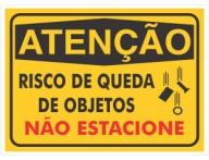 PLACA DE SINALIZAÇÃO RISCO