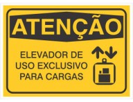 PLACA DE SINALIZAÇÃO ELEVADOR EXCLUSIVO