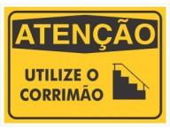 PLACA DE SINALIZAÇÃO CORRIMÃO