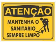 PLACA DE SINALIZAÇÃO MANTENHA