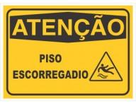 PLACA DE SINALIZAÇÃO PISO ESCORREGADIO