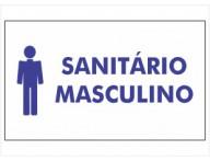 PLACA DE SINALIZAÇÃO SANITÁRIO MASCULINO