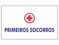 ADESIVO PLACA DE SINALIZAÇÃO PRIMEIROS SOCORROS