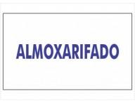 ADESIVO PLACA DE SINALIZAÇÃO ALMOXARIFADO