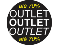 Adesivo Vitrine Outlet