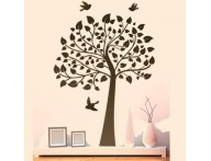 Adesivo Árvore ao vento com pássaros