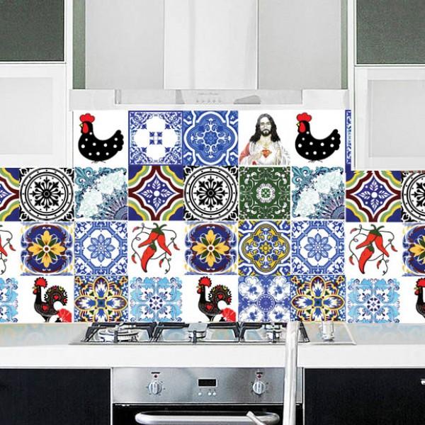 Adesivo azulejo portugues 9 2 - Papel para azulejos de bano ...
