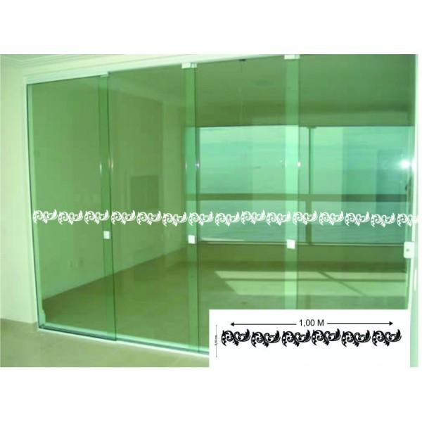 Faixa para portas de vidro em arabesco for Adesivos p porta de vidro