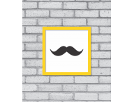 QUADRO DECORATIVO ABSTRATO BIGODE - TODAS AS CORES