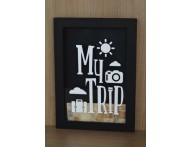 QUADRO COFRE DECORATIVO METAS MY TRIP